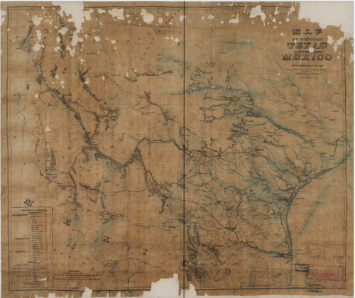 Texas and Mexico 1868 - Houston Map Company