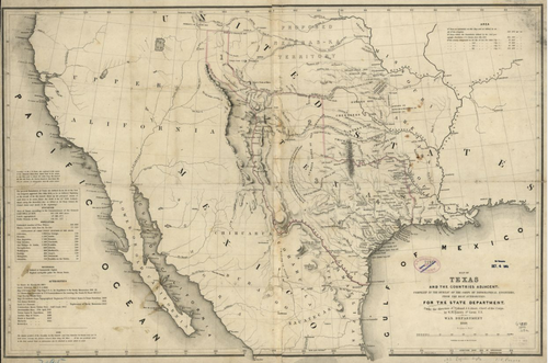 Map of Texas and the Countries Adjacent - Houston Map Company