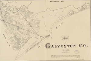 Galveston County Texas 1879 - Houston Map Company