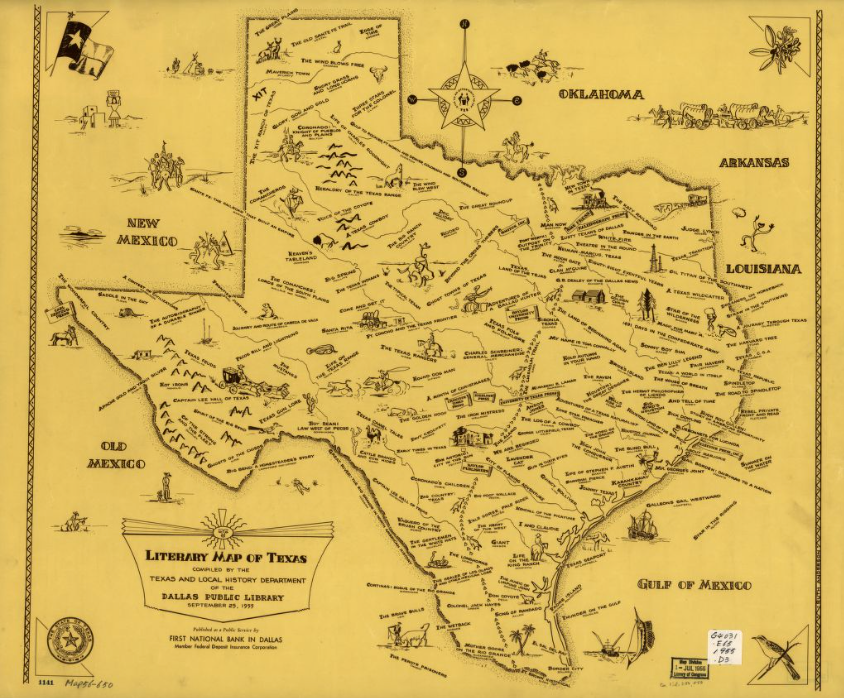 Houston On Map Of Texas.Literary Map Of Texas