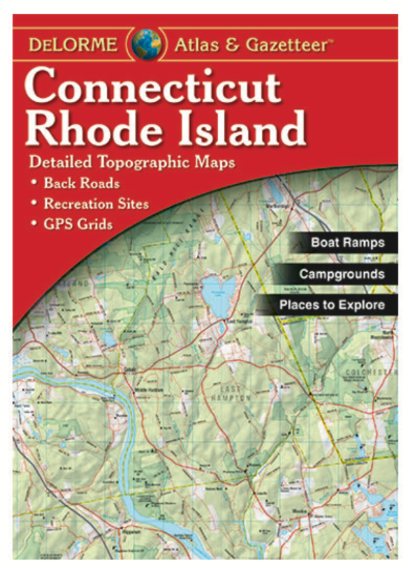 Connecticut & Rhode Island DeLorme Atlas & Gazetteer