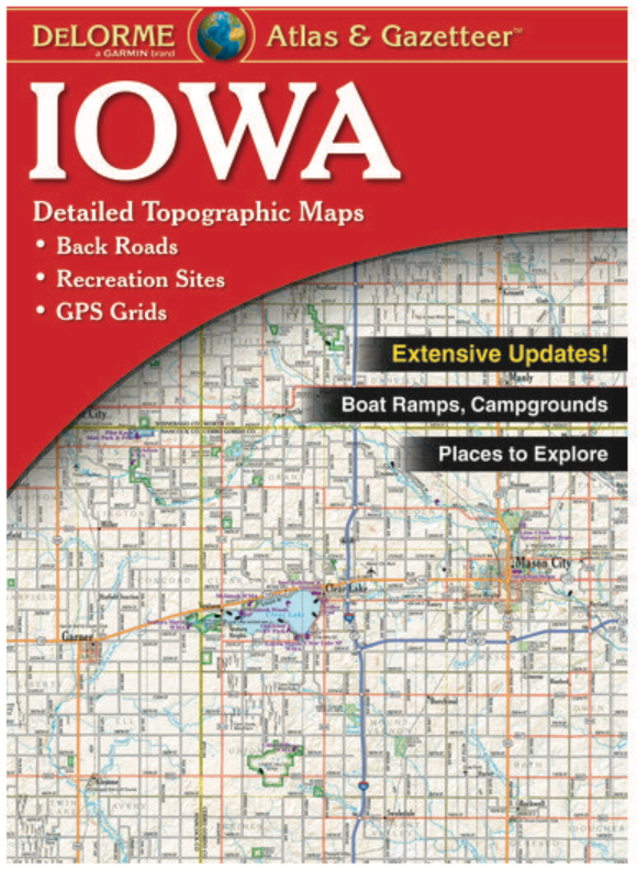 Iowa Delorme Atlas & Gazetteer