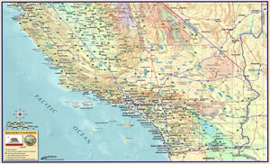 Southern California Wall Map - Houston Map Company