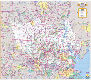 Harris County Thoroughfares 2019 Houston Map Company