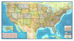 USA Political Wall Map - Houston Map Company