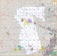 Waller County Wall Maps - Houston Map Company