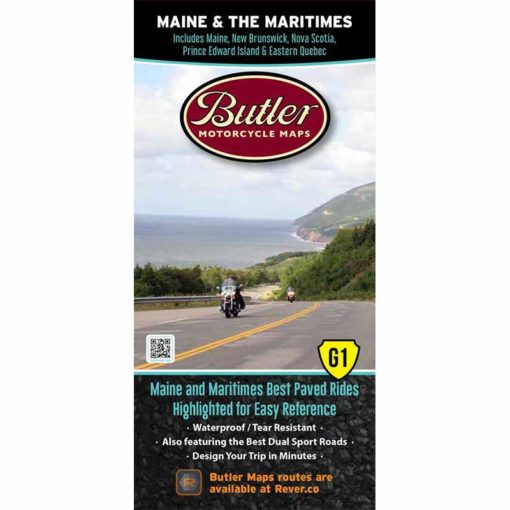 Maine and the Maritimes Folding Map - Butler - Houston Map Company