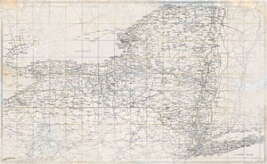 New York Rustic Wall Map - Houston Map Company