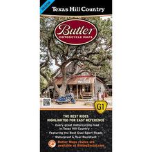 Texas Hill Country Folding Map - Butler - Houston Map Company