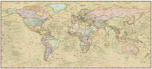 Decorative Antique World Wall Map