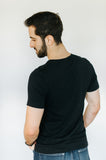 men's heather black well loved tee, good vibez