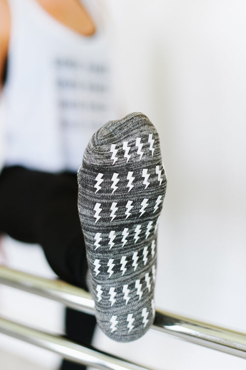 marble gray full toe grip sock