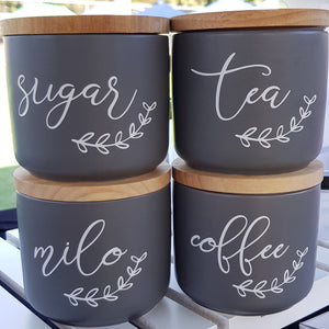 Coffee, Tea and Sugar Labels - Leaf