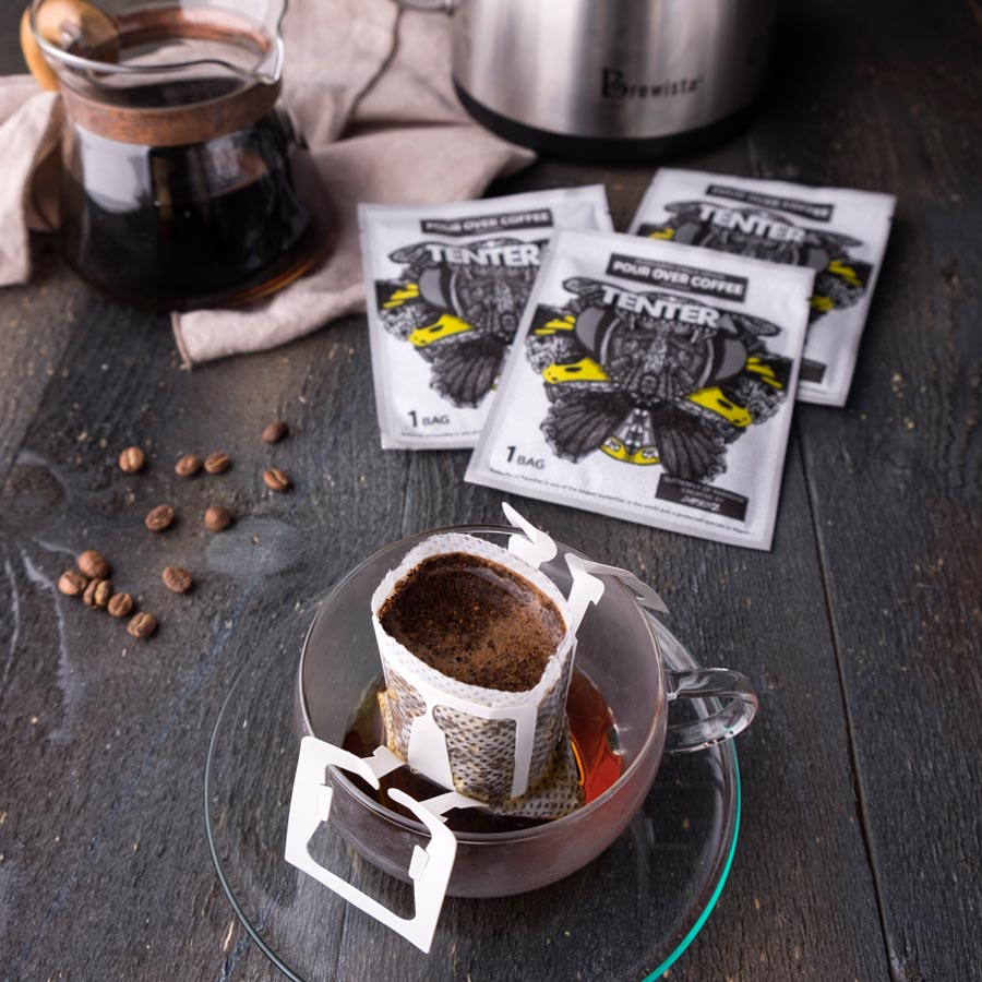Single Serve Pour-Over Coffee Bags (Sumatra Gayo USDA Organic Green Bean)