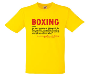 BOXING - DICTIONARY MEANING T-SHIRT