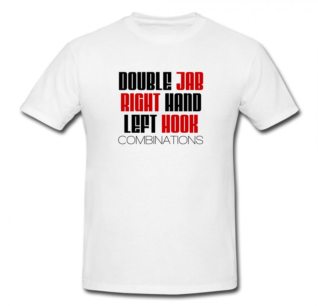 DOUBLE JAB RIGHT HAND LEFT HOOK BOXING T-SHIRT