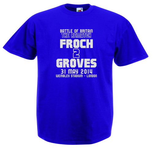 FROCH VS GROVES 2 BOXING T-SHIRT