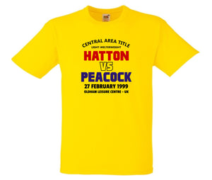 RICKY HATTON VS TOMMY PEACOCK BOXING T-SHIRT