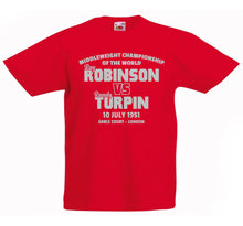 SUGAR RAY ROBINSON VS RANDOLPH TURPIN BOXING T-SHIRT