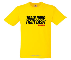 TRAIN HARD FIGHT EASY BOXING T-SHIRT - FIGHTWEAR COLLECTION