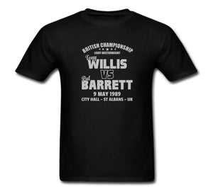 TONY WILLIS VS PAT BARRETT BOXING T-SHIRT