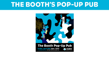 The booth's pop-up pub