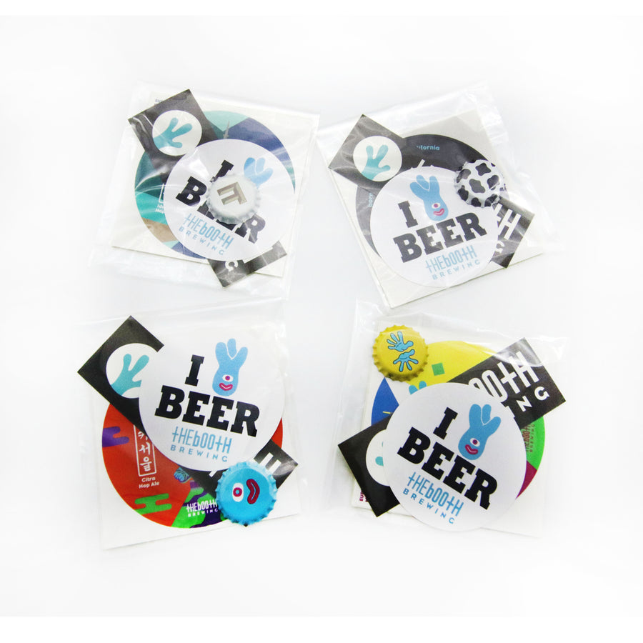Sticker & Bottle Cap Mix Pack