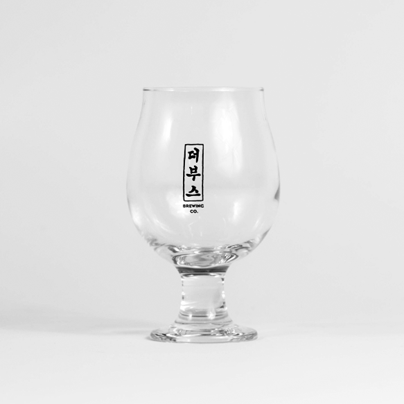 The Booth Logo 10oz Belgian Round Glasses