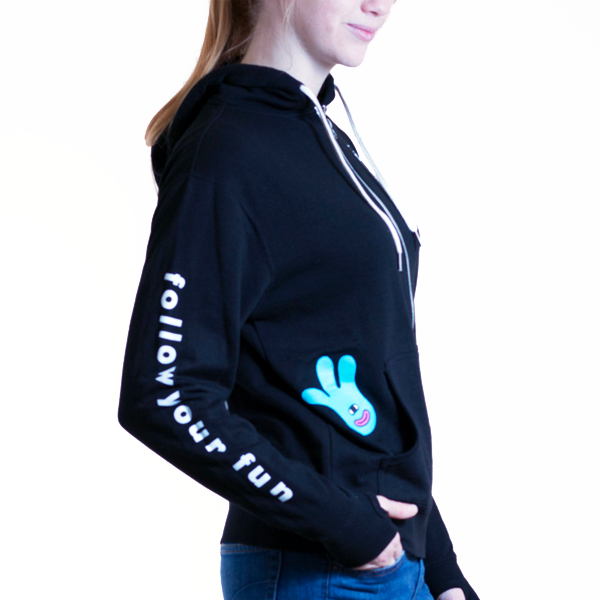 Unisex Zip-Up Hoodie (White Zip)