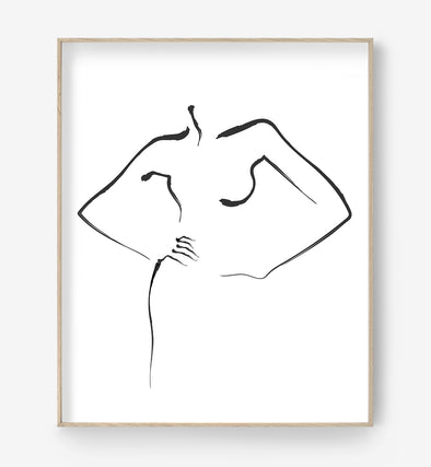 Abstract Female Art Print
