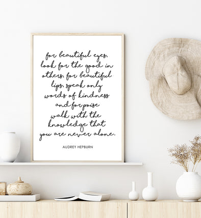 audrey hepburn quote printable