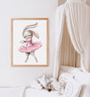 ballerina bunny girl nursery art