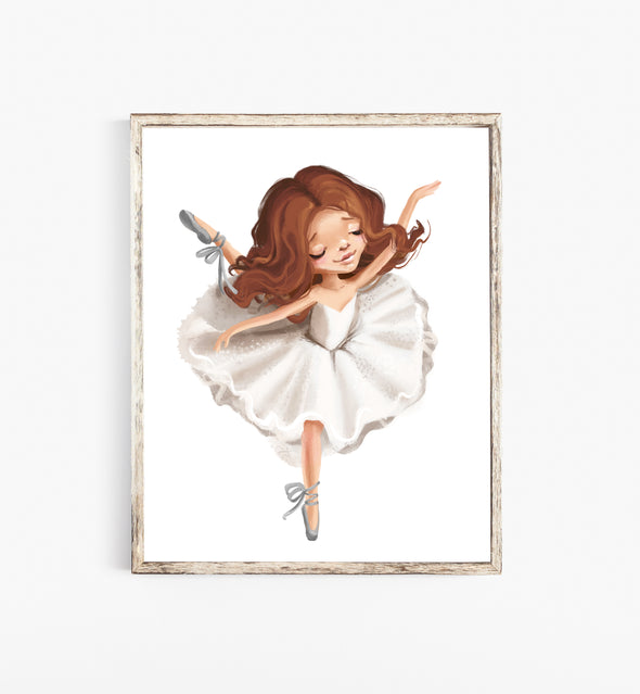 dancing ballerina for nursery prints