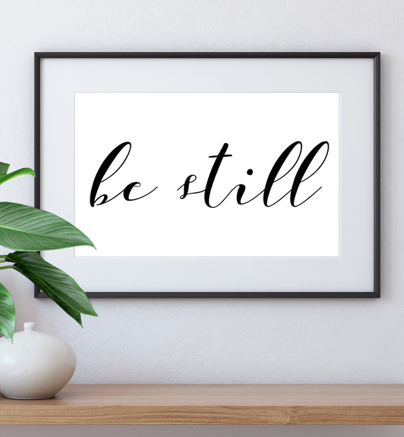 be still wall art