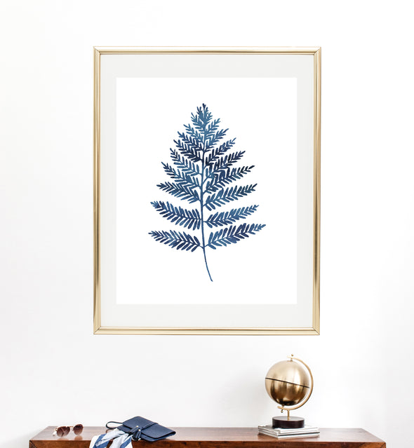 Watercolor Fern Print