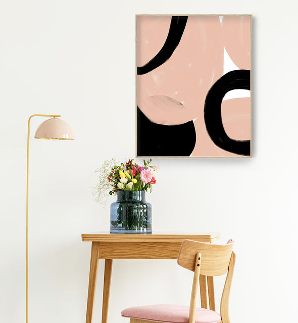 blush abstract print