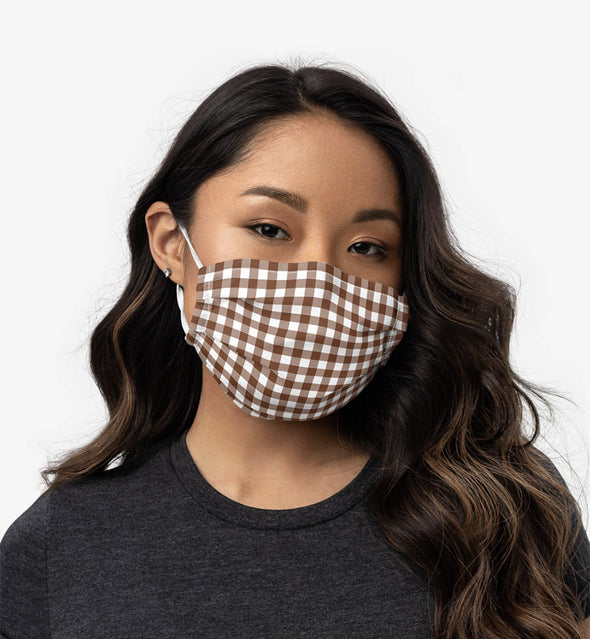 gingham face mask