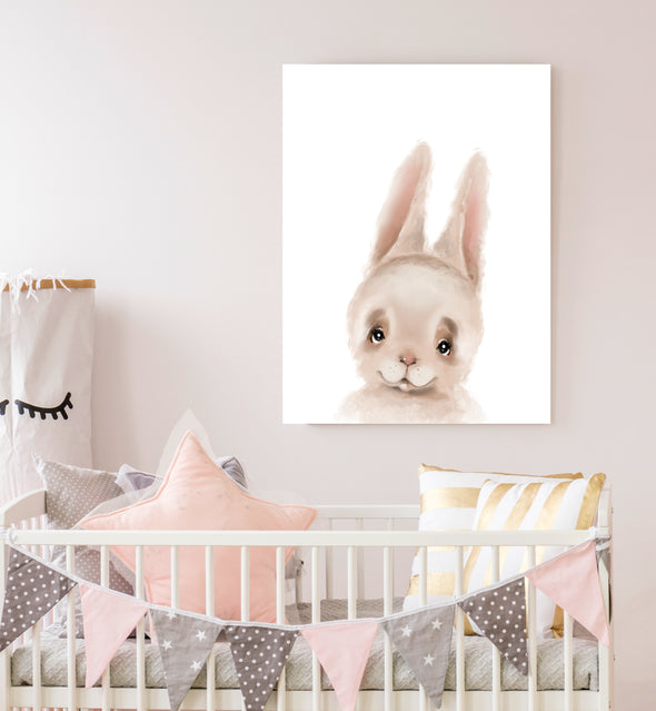 bunny nursery painting