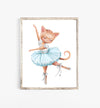 cat ballerina nursery print
