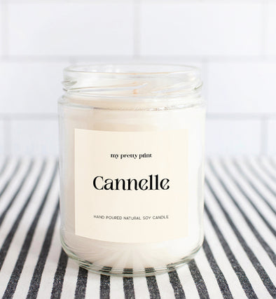 cinnamon natural soy wax candle
