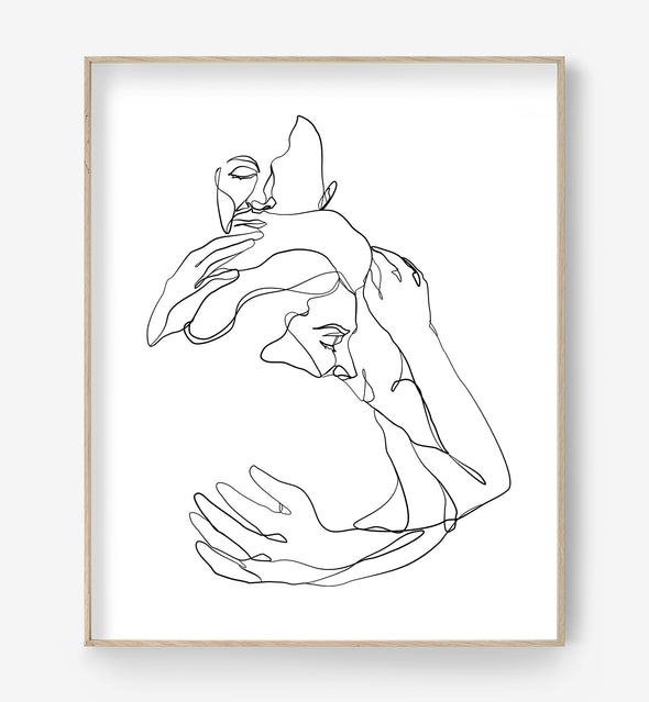 The Embrace No. 3 One Line Art Print