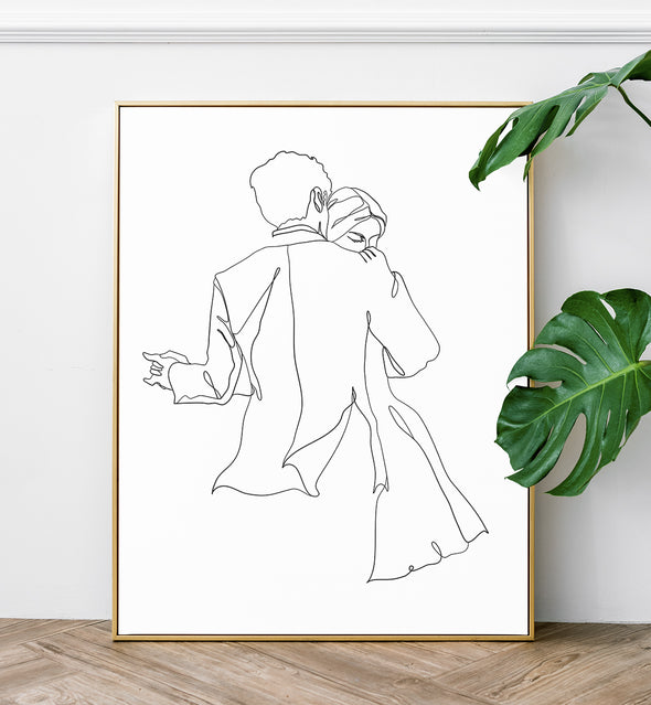 couple dance wall art