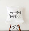 custom text pillow