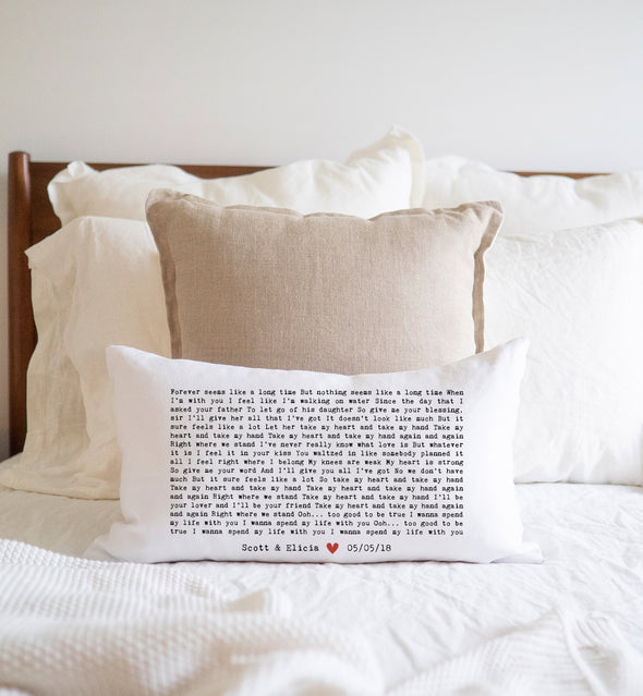 Wedding Song Lyrics Pillow