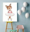 deer ballerina girl nursery wall art
