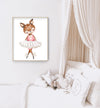 deer print nursery wall art