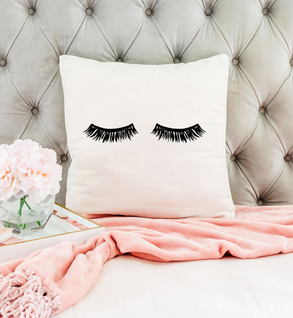 eyelashes pillow