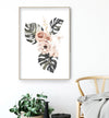 watercolor peonies wall art