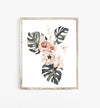watercolor floral wall art