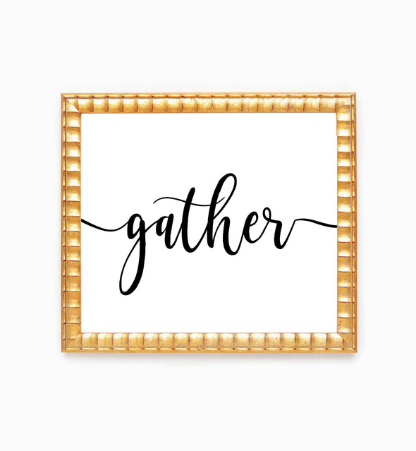 gather wall decor